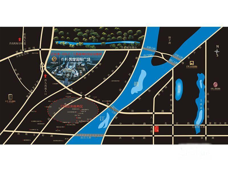 保利凯旋国际广场交通图
