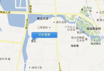 天沐君湖交通图