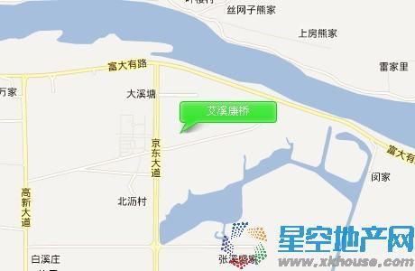 艾溪康桥交通图