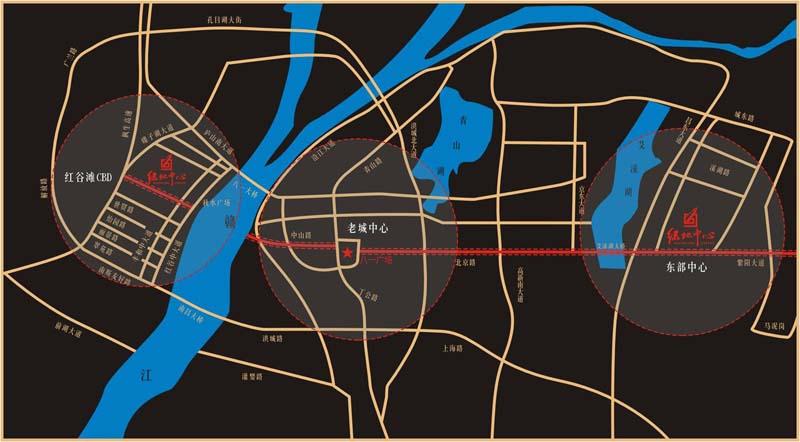 高新绿地中心交通图