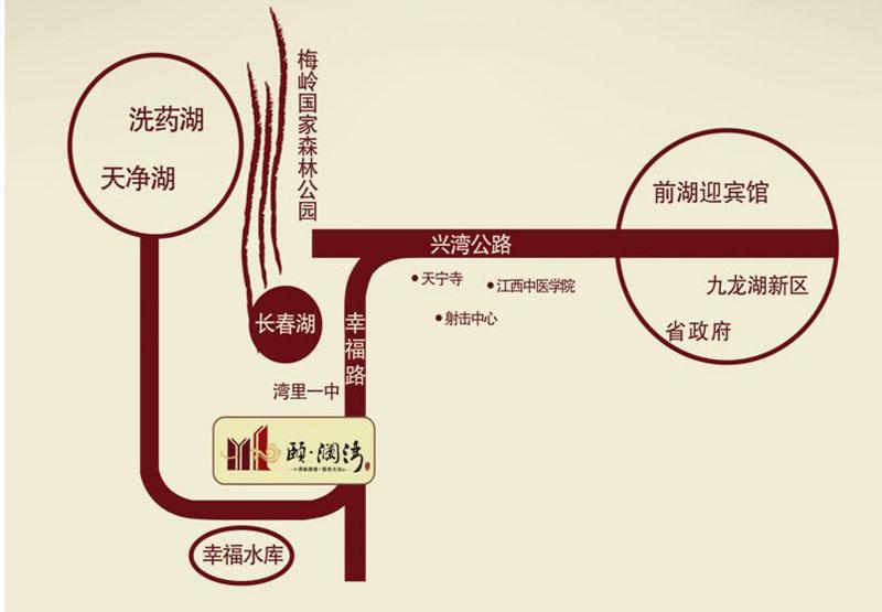 颐澜湾交通图