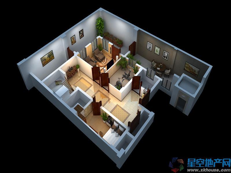 博泰生命树二室二厅一卫