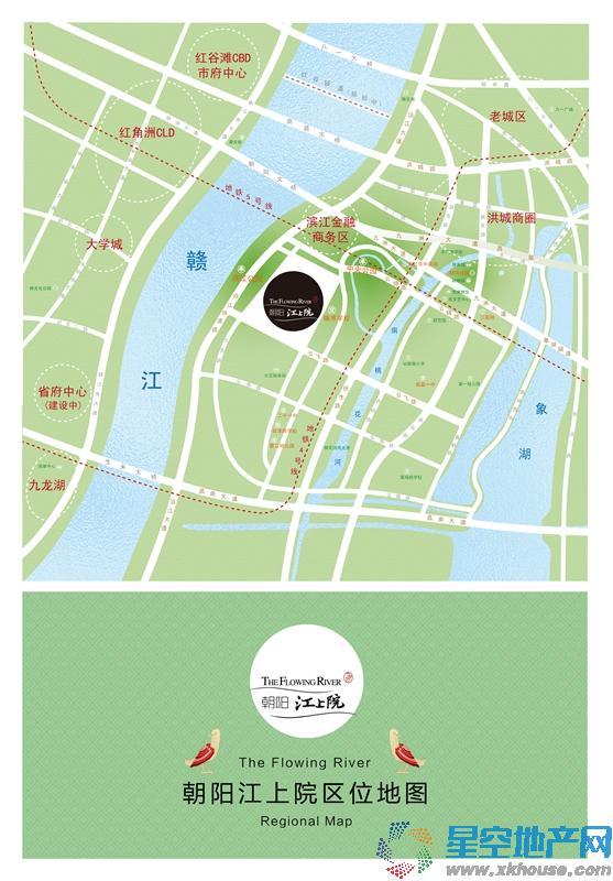 朝阳江上院交通图