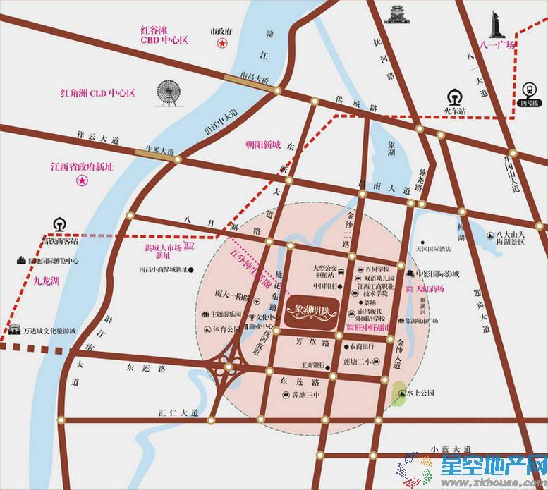 象湖明珠交通图