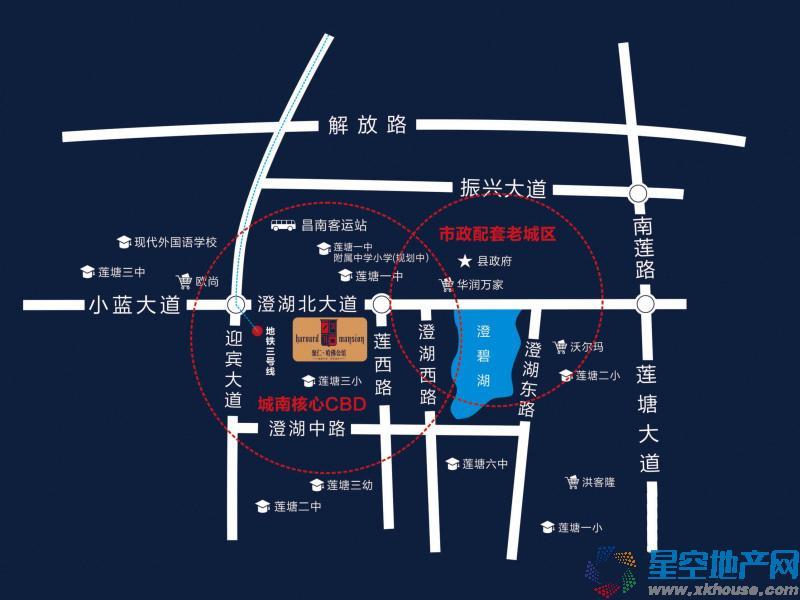 聚仁哈佛公馆交通图