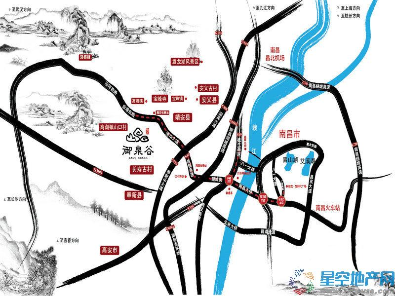恒茂御泉谷交通图