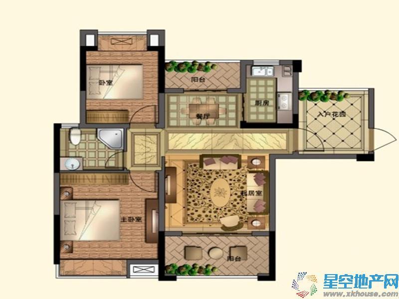 九龙帝景湾二室二厅一卫