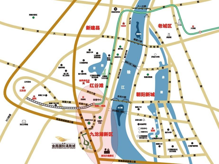 云南城投集团·汀兰湖交通图