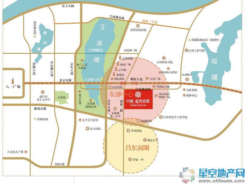 中骏蓝湾香郡交通图