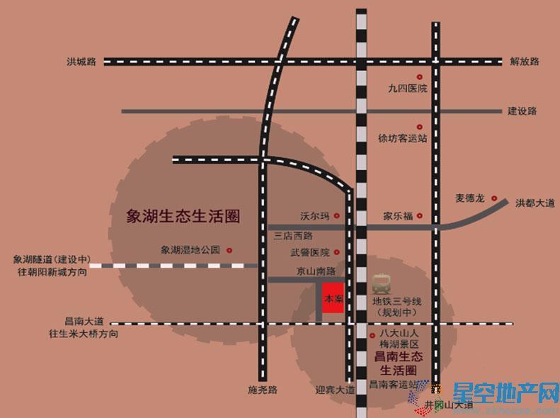 梅湖香榭丽交通图