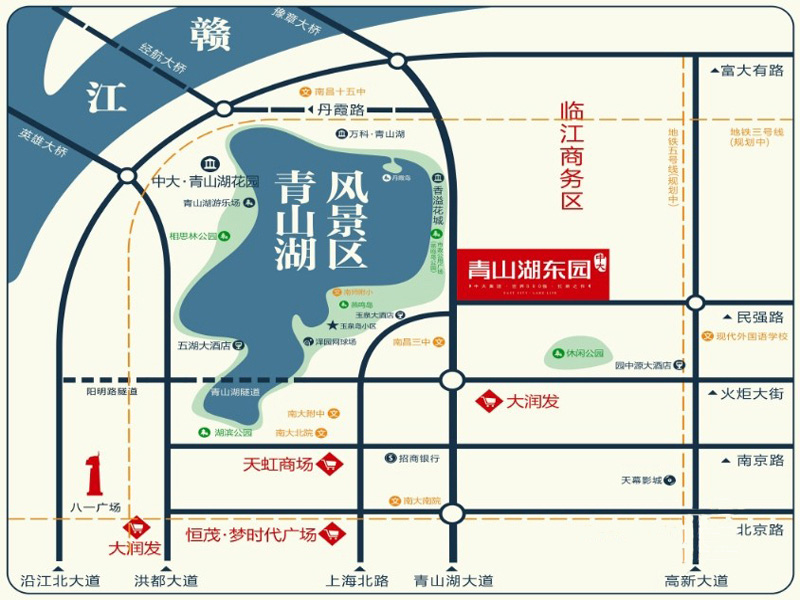 阳光城青山湖大境交通图