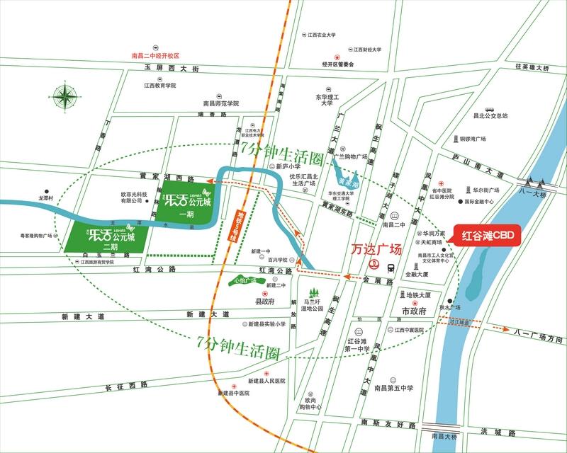 乐活公元城交通图