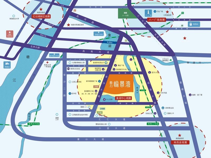 新力愉景湾交通图
