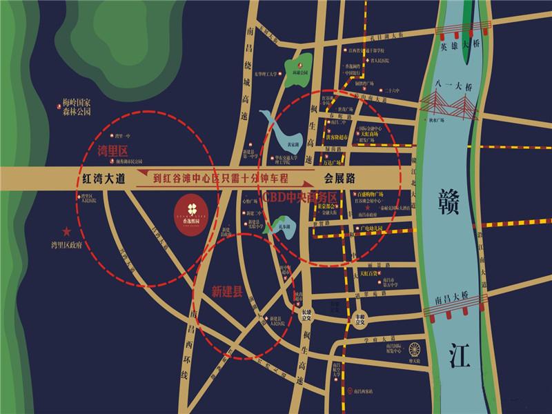 香逸熙园交通图