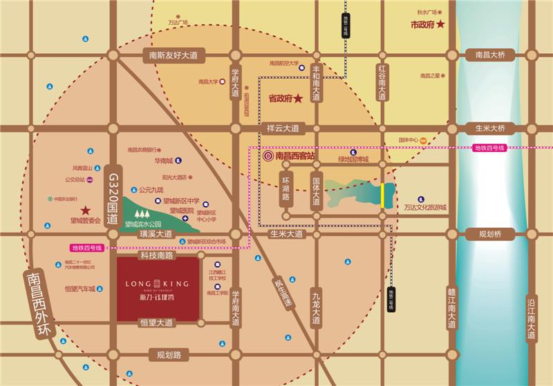 新力钰珑湾交通图
