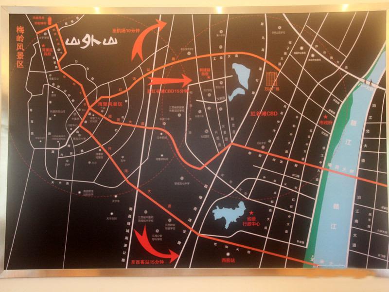 永惠山外山交通图