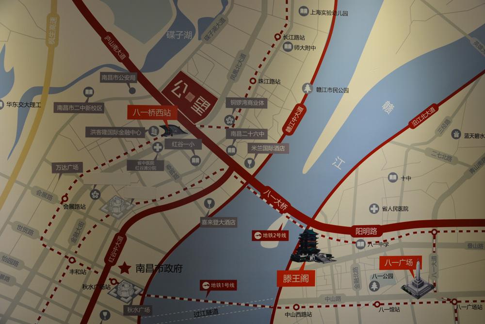 万科时一区交通图