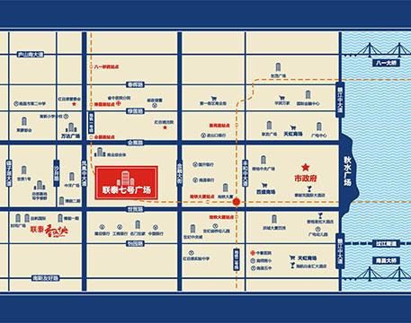 联泰7号广场交通图