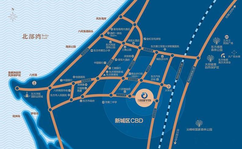 东方海逸半岛交通图