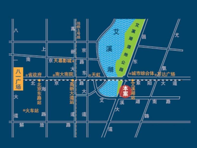 艾溪湖一号交通图