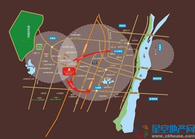 江中御墅国际交通图