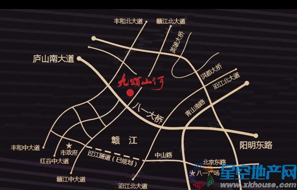九颂山河交通图