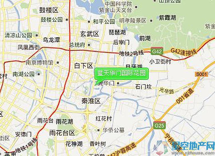 蓝天华门国际花园交通图