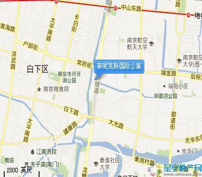 金陵凤栖园交通图
