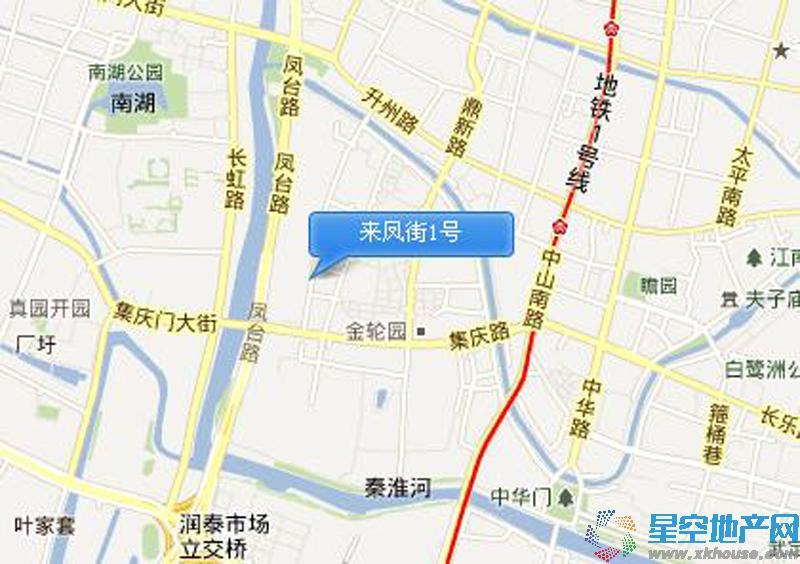 来凤街1号交通图