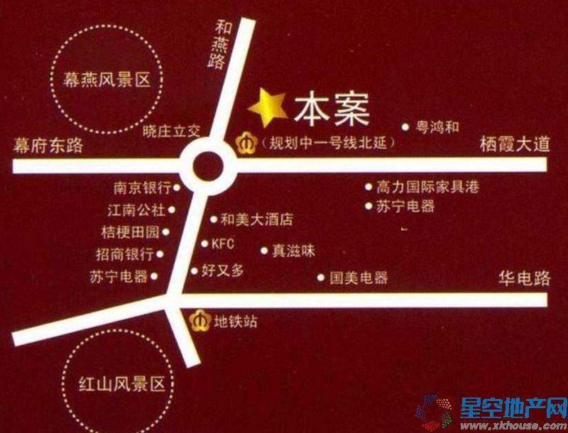 晓庄国际广场交通图