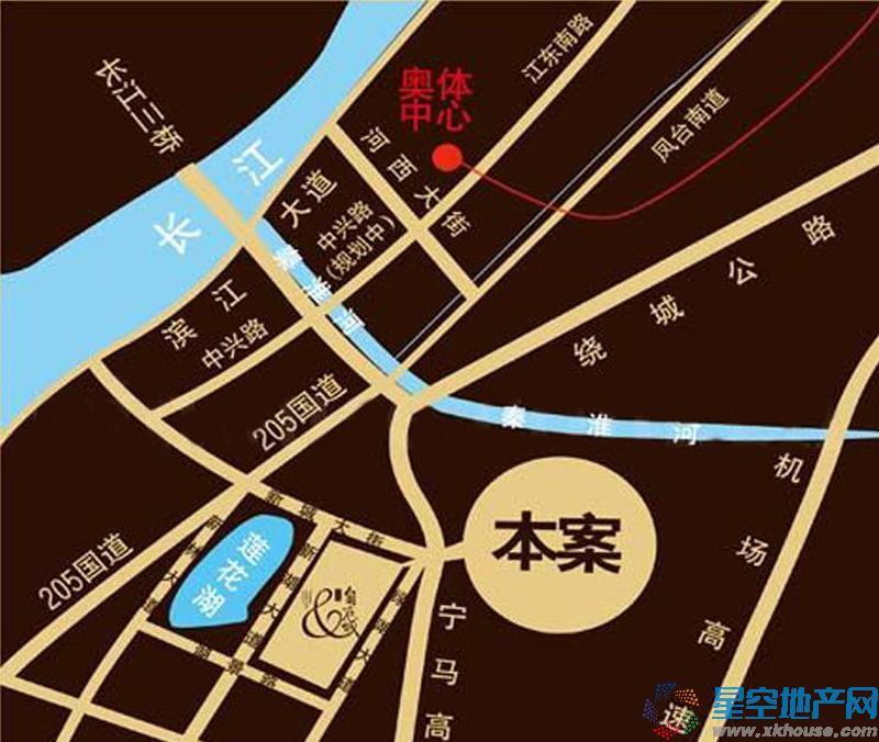 金地自在城交通图