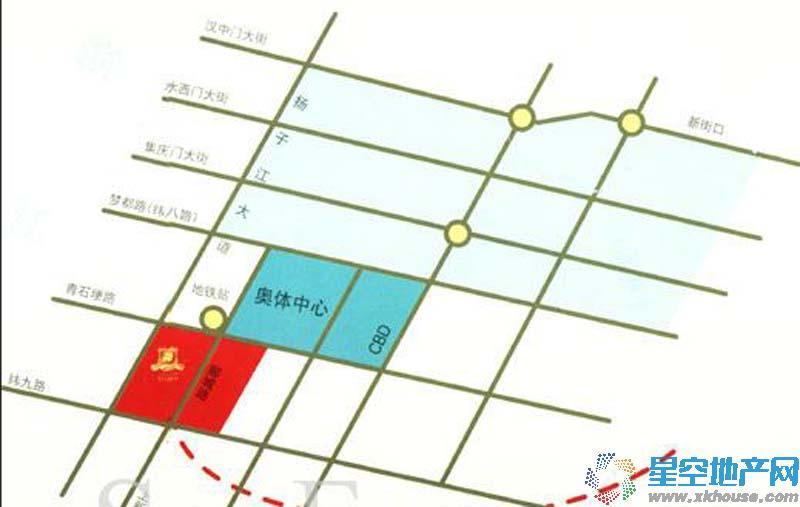 郦城御园交通图