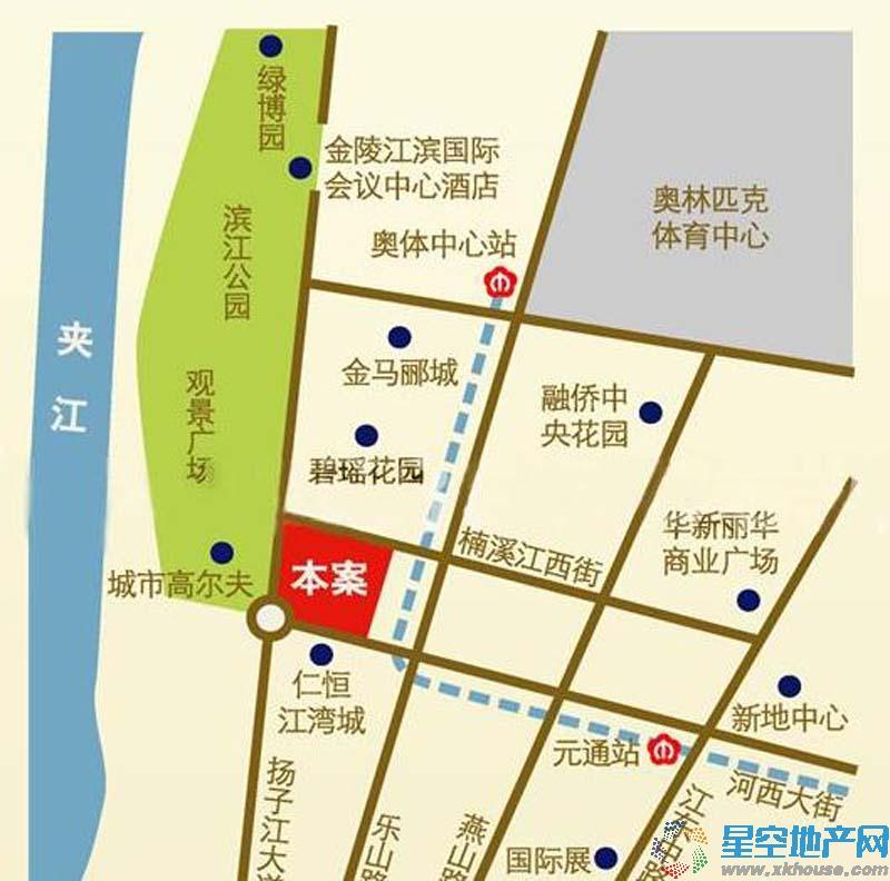 苏宁滨江壹号交通图
