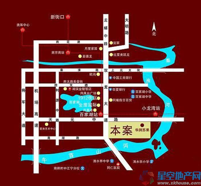21世纪百家湖1号交通图
