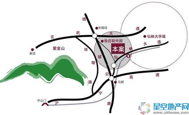翠屏紫气钟山交通图