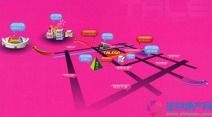 托乐嘉城市广场交通图