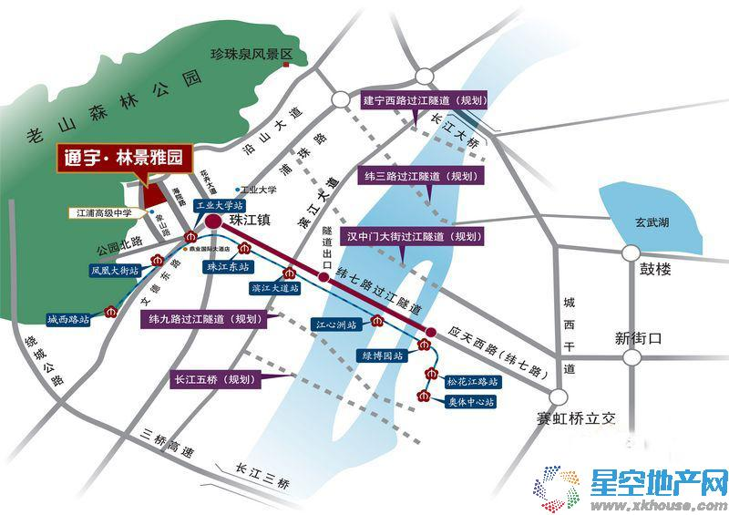 林景雅园交通图