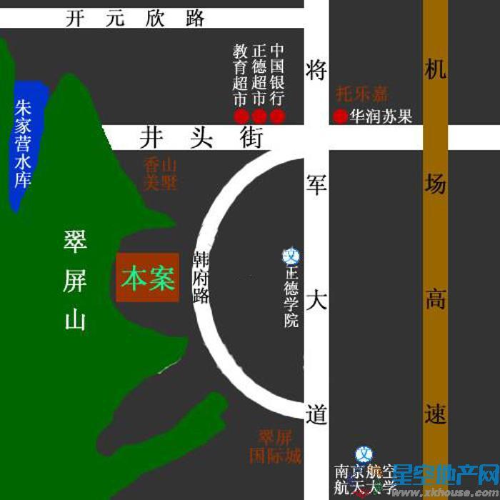 滟紫台交通图