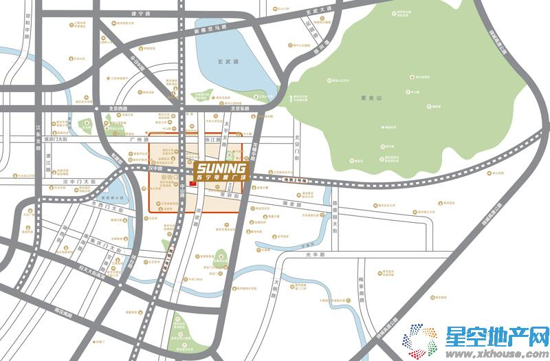 苏宁雅悦交通图