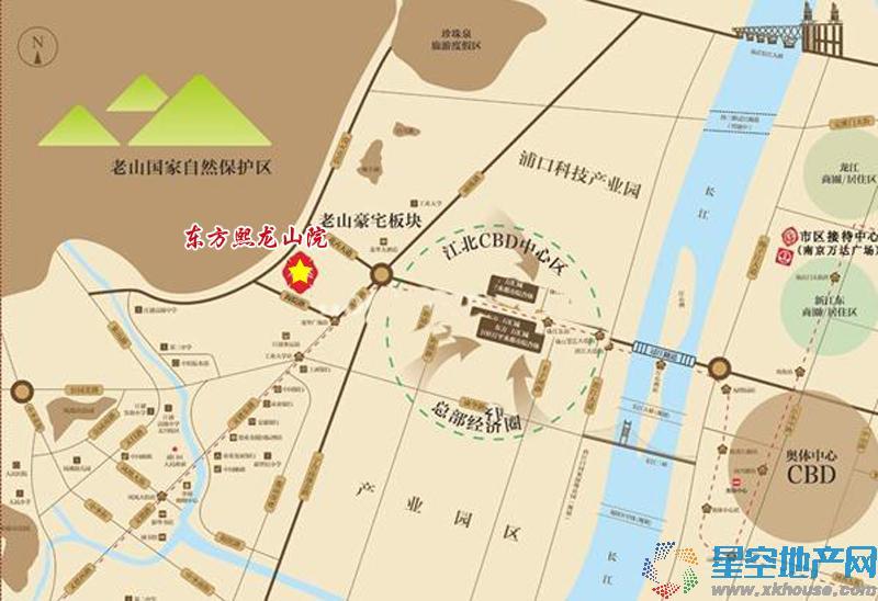 东方熙龙山院交通图