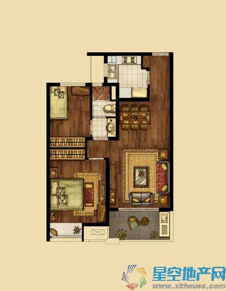 海峡城_2室2厅1卫1厨