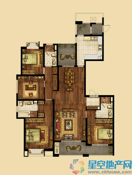 海峡城_4室2厅2卫1厨