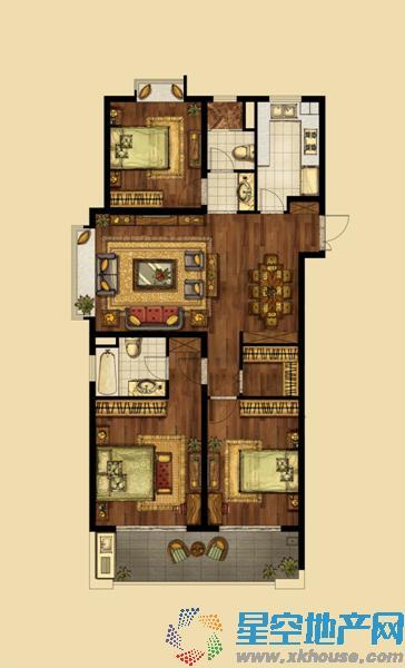 海峡城_3室2厅2卫1厨