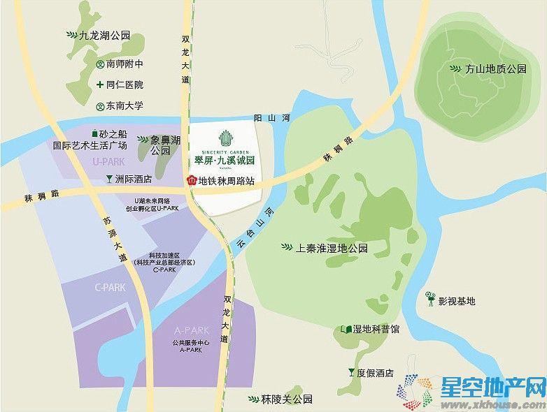 翠屏诚园交通图