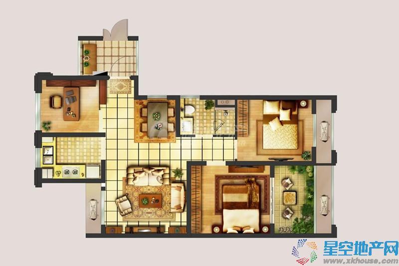 翠屏城二室二厅一卫