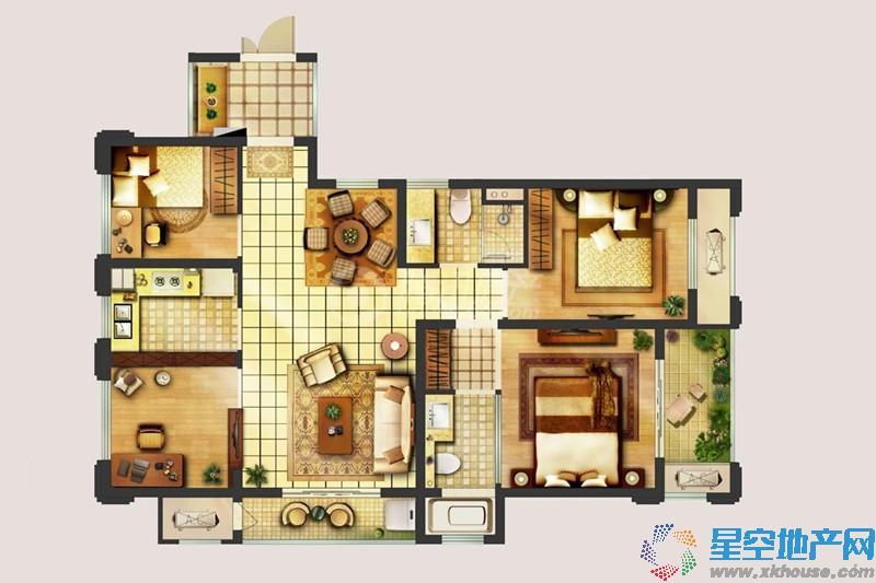 翠屏城三室二厅一卫