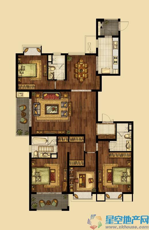 海峡城_4室2厅3卫1厨