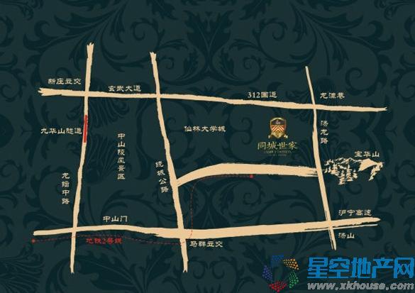 同城世家交通图