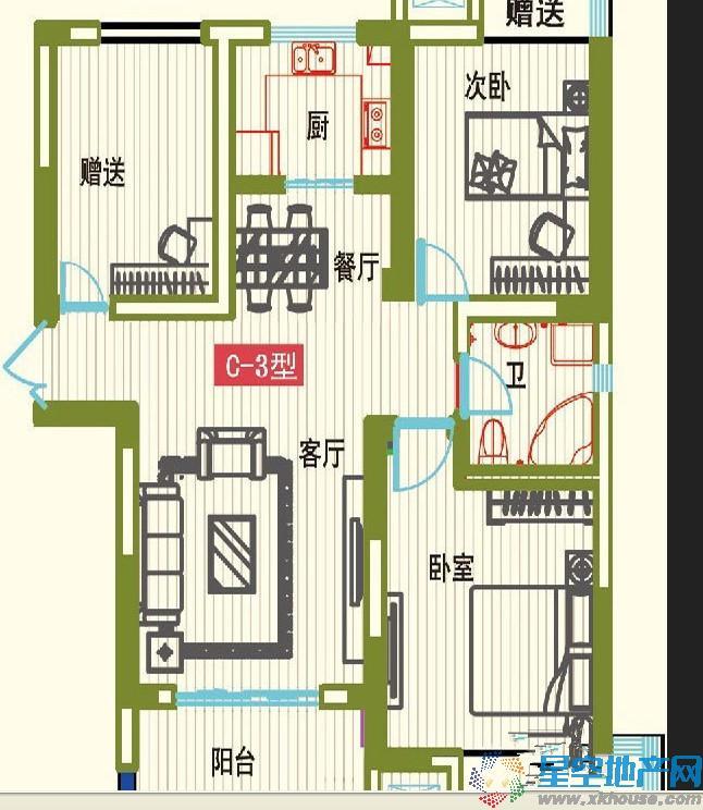 和昌仙林国际三室二厅一卫