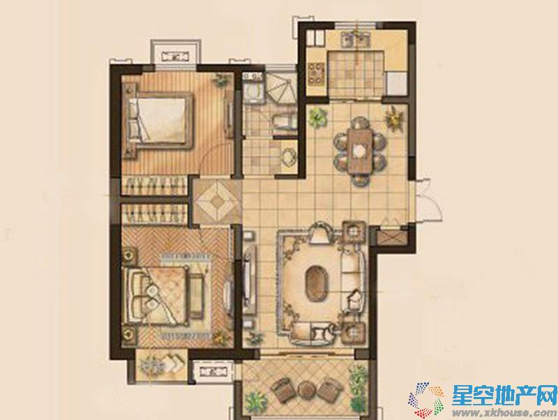 恒盛金陵湾二室二厅一卫